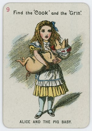 Alice And The Pig Baby by John Tenniel (1820-1914, United Kingdom)