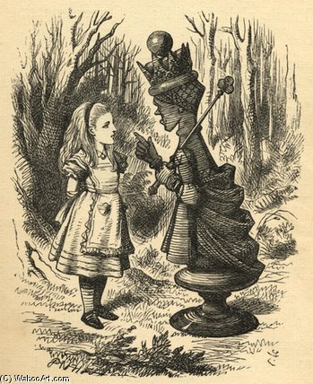 Alice And The Red Queen by John Tenniel (1820-1914, United Kingdom)