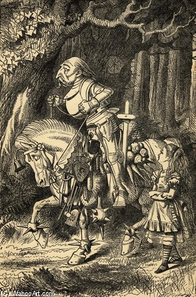 Alice And The White Knight by John Tenniel (1820-1914, United Kingdom)