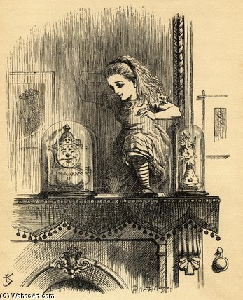 Alice In The Looking Glass House by John Tenniel (1820-1914, United Kingdom)