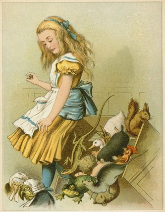 Order Museum Quality Reproductions : She Tipped Over The Fairy-box From Alice`s by John Tenniel (1820-1914, United Kingdom) | WahooArt.com