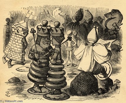 The Chess Players by John Tenniel (1820-1914, United Kingdom)