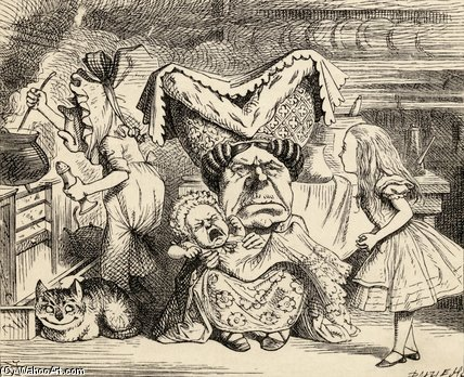 The Duchess With Her Family by John Tenniel (1820-1914, United Kingdom)