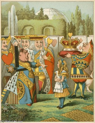 The Queen Said Severely `who Is This by John Tenniel (1820-1914, United Kingdom) | Museum Quality Reproductions | WahooArt.com