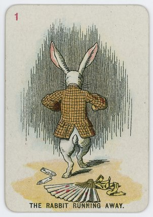 The Rabbit Running Away by John Tenniel (1820-1914, United Kingdom)
