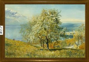 John William Inchbold - An Alpine Lake