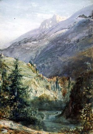 On The Road Of Sepey, Switzerland by John William Inchbold (1830-1888, United Kingdom) | Museum Quality Copies John William Inchbold | WahooArt.com
