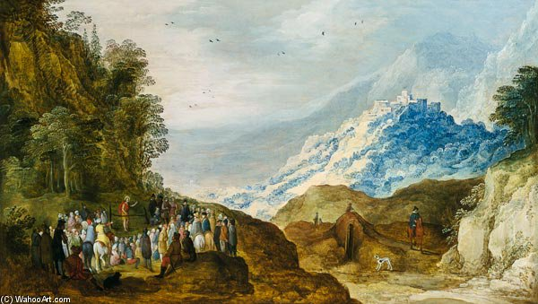 The Sermon On The Mount by Joos De Momper (1564-1635, Belgium) | Art Reproduction | WahooArt.com