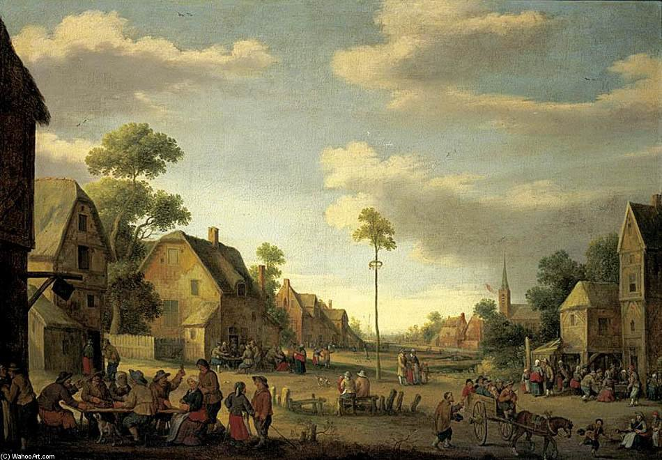 Village Street_6 by Joost Cornelisz Droochsloot (1586-1666, Netherlands) | Art Reproduction | WahooArt.com