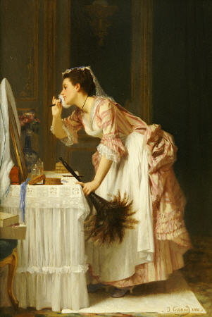 The Chamber Maid by Joseph Caraud (1821-1905, France) | Painting Copy | WahooArt.com
