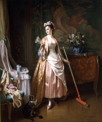 The Lady's Maid by Joseph Caraud (1821-1905, France)