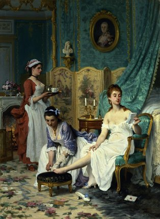 The Levee by Joseph Caraud (1821-1905, France) | Famous Paintings Reproductions | WahooArt.com