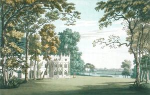Joseph Farington - The House, Gardens And Lake At Strawberry Hill