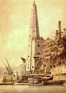 Joseph Farington - The Old Water Tower At York Buildings
