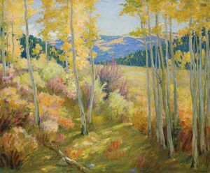 Joseph Henry Sharp - Taos Forest -