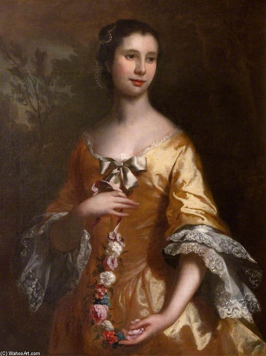 Elizabeth Lee by Joseph Highmore (1692-1780, United Kingdom) | Famous Paintings Reproductions | WahooArt.com