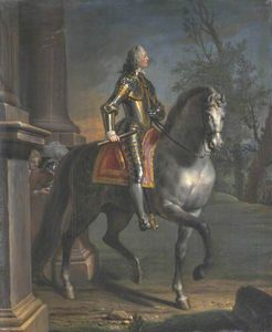 Joseph Highmore - Equestrian Portrait Of King George Ii