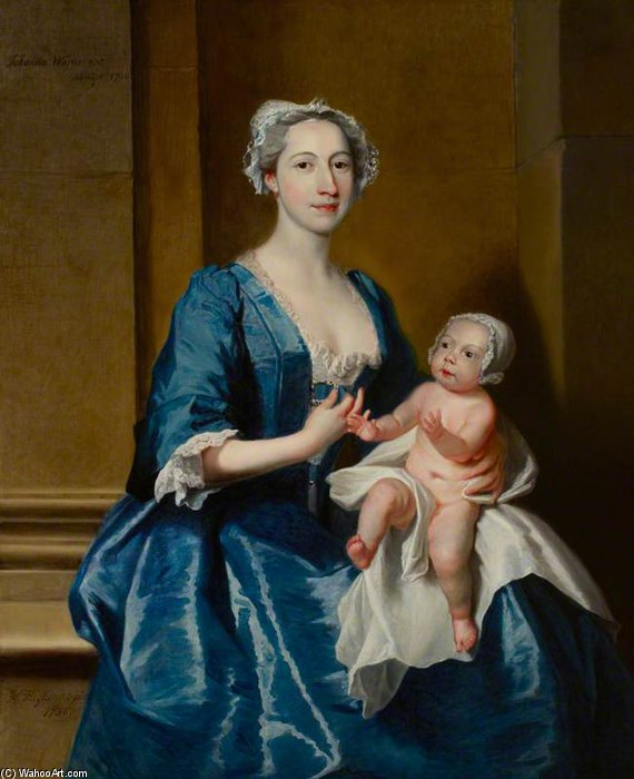 Johanna, Mrs Robert Warner Of Bedhampton by Joseph Highmore (1692-1780, United Kingdom) | Painting Copy | WahooArt.com