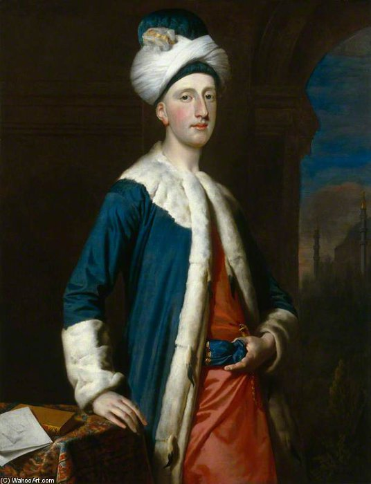 John Montagu, 4th Earl Of Sandwich by Joseph Highmore (1692-1780, United Kingdom) | Museum Quality Reproductions | WahooArt.com