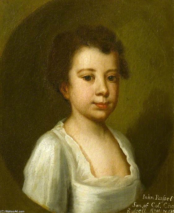 John Russell, Child Of Colonel Charles Russell by Joseph Highmore (1692-1780, United Kingdom) | Museum Quality Reproductions | WahooArt.com