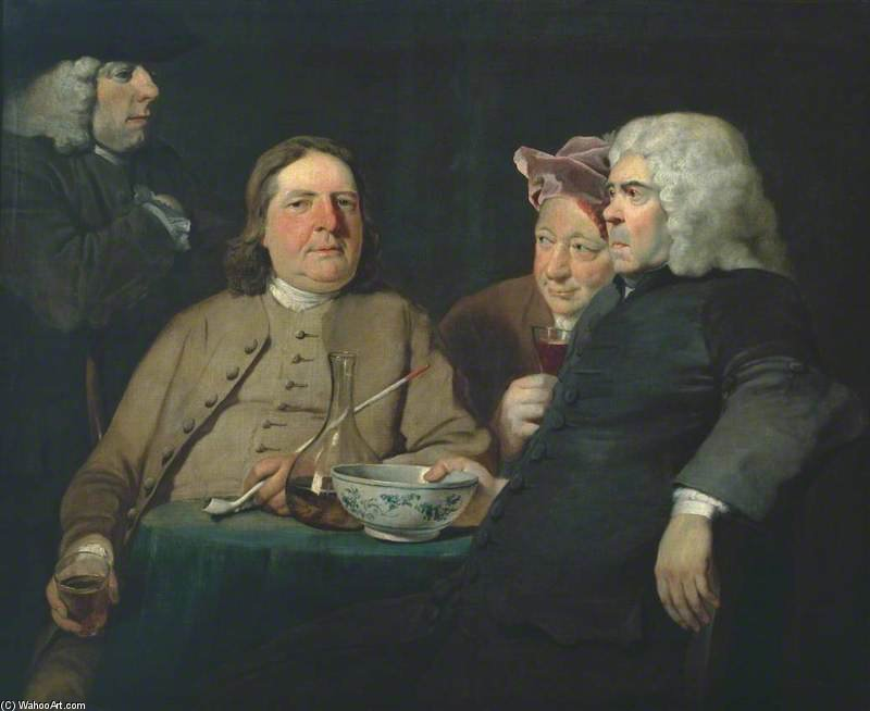Mr Oldham And His Guests by Joseph Highmore (1692-1780, United Kingdom) | Oil Painting | WahooArt.com