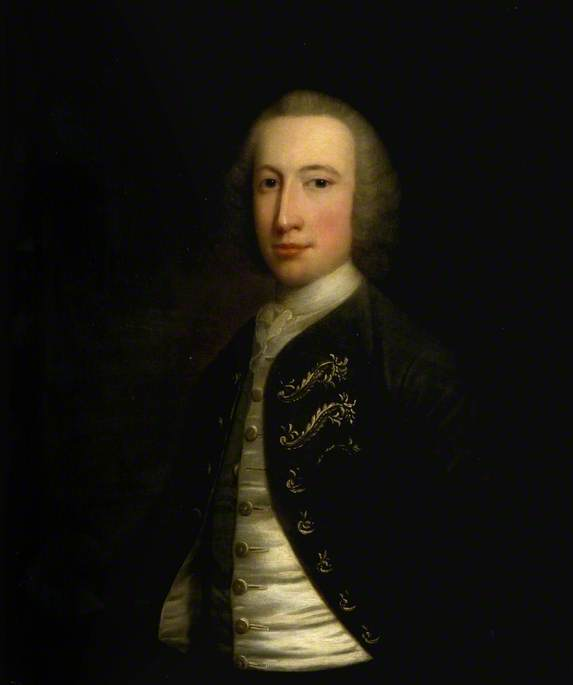 Portrait Of A Man by Joseph Highmore (1692-1780, United Kingdom) | Museum Quality Reproductions | WahooArt.com