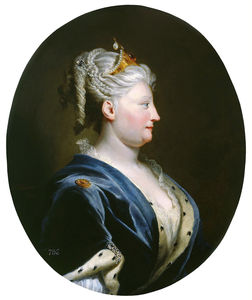 Joseph Highmore - Portrait Of Queen Caroline Of Ansbach