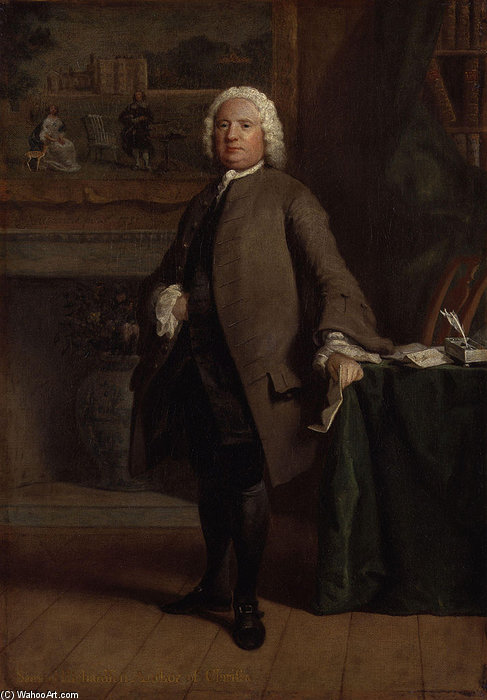 Samuel Richardson by Joseph Highmore (1692-1780, United Kingdom) | Painting Copy | WahooArt.com