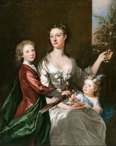 Joseph Highmore - The Artist-s Wife Susanna, Son Anthony And Daughter Susanna