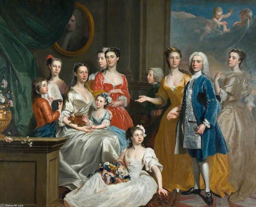 The Family Of E. Lancelot Lee by Joseph Highmore (1692-1780, United Kingdom) | Museum Quality Reproductions | WahooArt.com