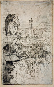 Joseph Pennell - Paris From Notre-dame