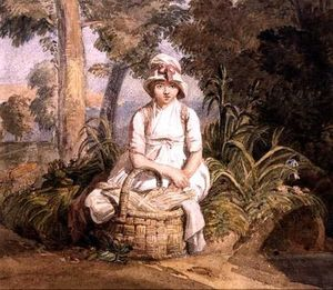 Joshua Cristall - Seated Girl With Bonnet
