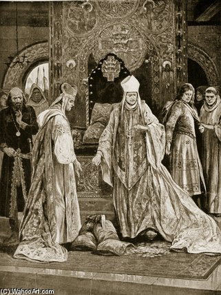 The Papal Legate Tramples On John`s Tribute by Richard Caton De Woodville (1856-1927, United States) | Museum Quality Reproductions | WahooArt.com