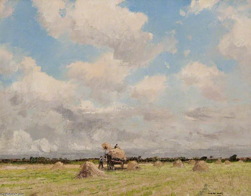 Hay Making by William Page Atkinson Wells (1871-1923, United Kingdom)