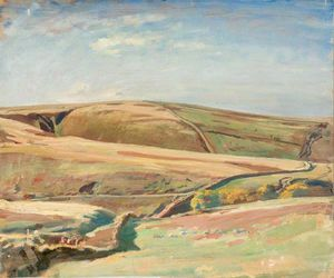 Alfred James Munnings - An Extensive View Of Exmoor