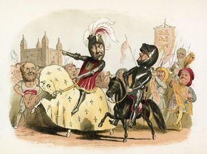 Richard Dickie Doyle - The Black Prince And The French King Entering London