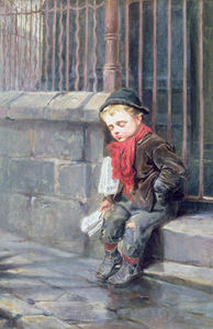 Ralph Hedley - The News Boy