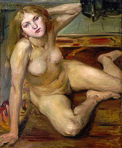 Lovis Corinth (Franz Heinrich Louis) - Nude Girl On A Rug