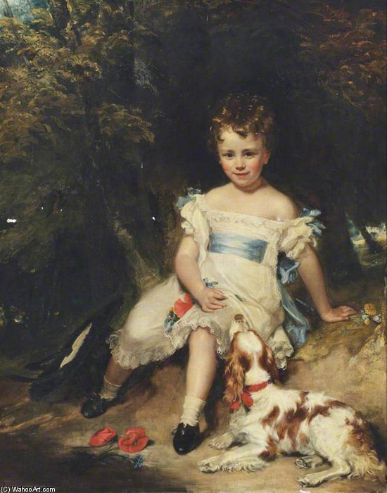 Jacob Henry Delaval Astley, Later 17th Baron Hastings, As A Boy by Henry William Pickersgill (1782-1875, United Kingdom) | Museum Quality Reproductions | WahooArt.com