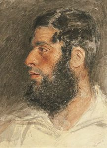 William Henry Hunt - Head Of A Bearded Man