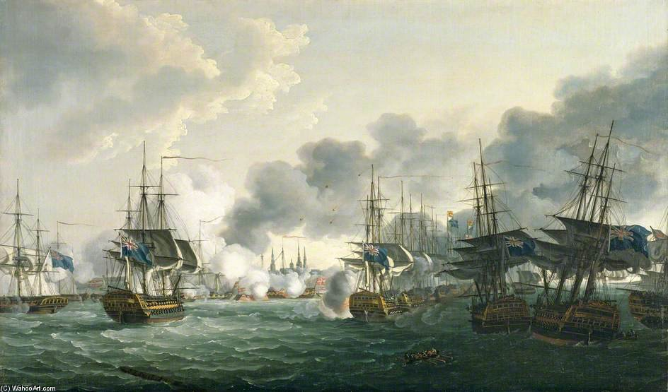 The Battle Of Copenhagen by John Thomas Serres (1759-1825, United Kingdom)
