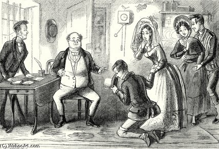 Mr. Pickwick Could Scarcely Believe The Evidence by Hablot Knight Browne (1815-1882, United Kingdom) | Museum Art Reproductions Hablot Knight Browne | WahooArt.com