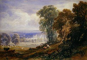 Anthony Vandyke Copley Fielding - Byland Abbey,