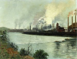 Order Museum Quality Reproductions : Bethlehem Steel by Aaron Harry Gorson (1872-1933, Lithuania) | WahooArt.com