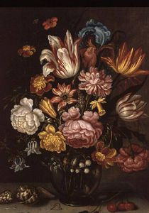 Abraham Bosschaert - Still Life Of Flowers In An Ovoid Vase