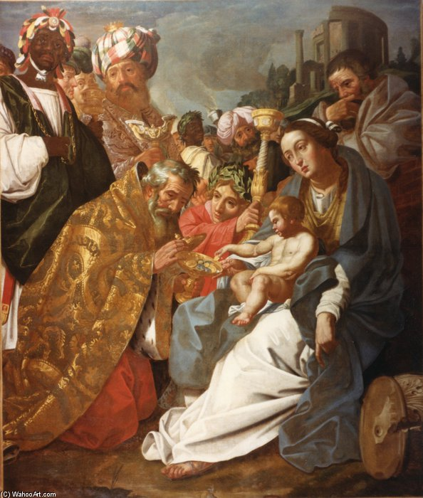 The Adoration Of The Magi by Abraham Janssens (1570-1632, Belgium) | Painting Copy | WahooArt.com