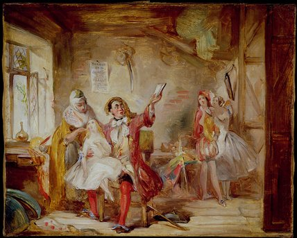 Backstage At The Theatre Royal by Abraham Solomon (1823-1862, United Kingdom) | WahooArt.com