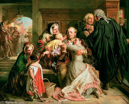The Acquittal by Abraham Solomon (1823-1862, United Kingdom)