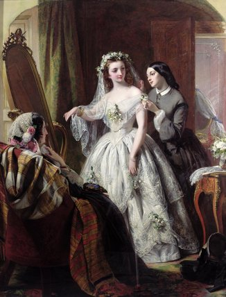 The Bride by Abraham Solomon (1823-1862, United Kingdom) | Museum Quality Reproductions | WahooArt.com