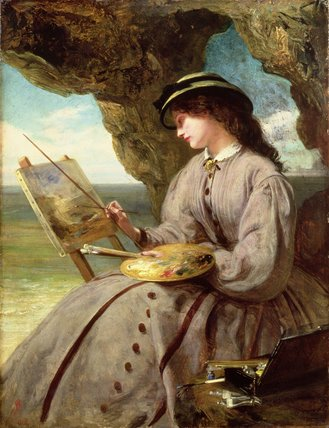 The Fair Amateur by Abraham Solomon (1823-1862, United Kingdom) | Oil Painting | WahooArt.com